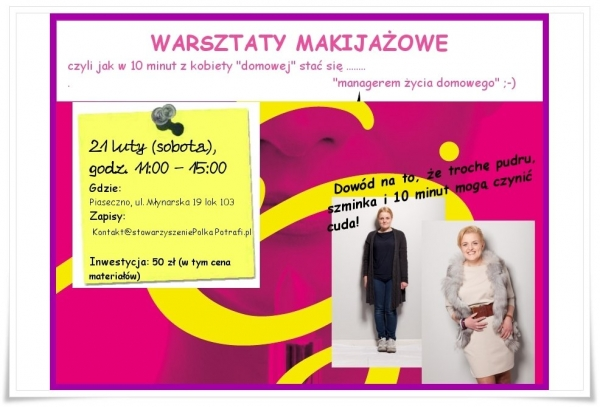 WARSZTATY MAKIJAŻU w Stowarzyszeniu Polka Potrafi.pl