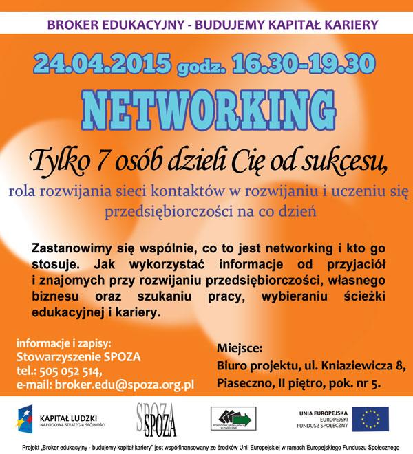 """Warsztaty """"Networking"""" w Piasecznie"""