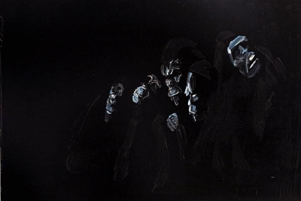 Czarne obrazy - wystawa malarstwa w Piasecznie