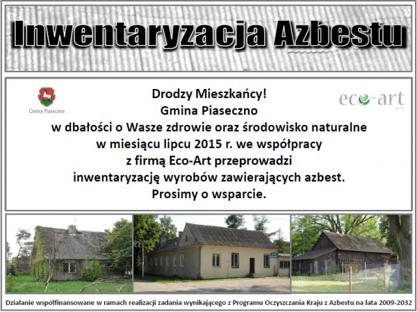 Inwentaryzacja azbestu w gminie Piaseczno