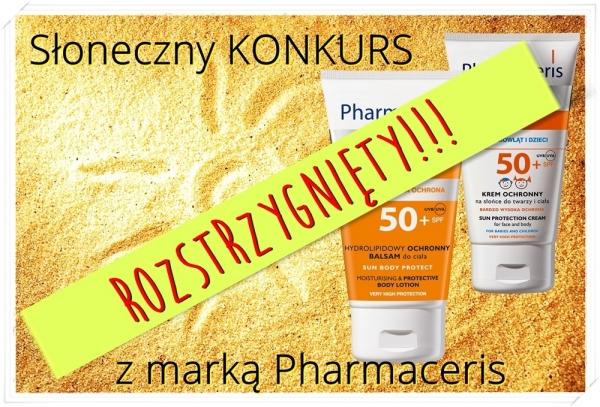 Słoneczny konkurs z marką Pharmaceris rozstrzygnięty