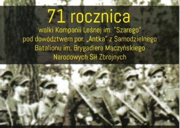 71. rocznicy walki Kompanii Leśnej