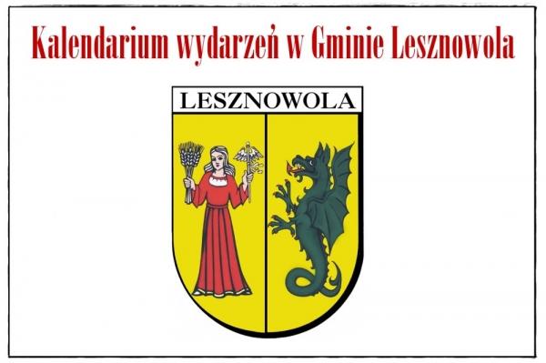 Kalendarium wydarzeń, czyli  co, gdzie i kiedy w gminie Lesznowola
