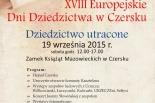 XVIII Europejskie Dni Dziedzictwa w Czersku