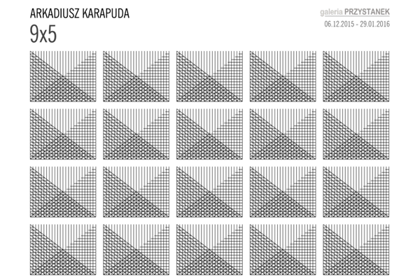 9x5 - wystawa malarstwa Arkadiusza Karapuda