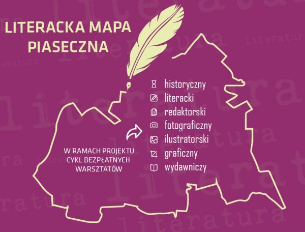 Literacka mapa Piaseczna