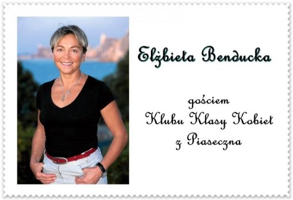 Elżbieta Benducka Gościem Klubu Kobiet z Piaseczna