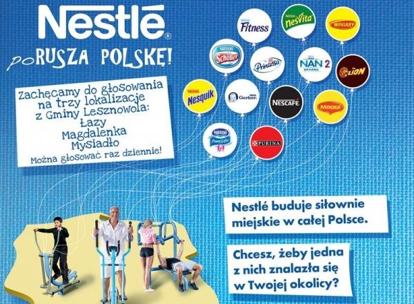 Gmina Lesznowola - Konkurs NESTLE poRUSZA Polskę