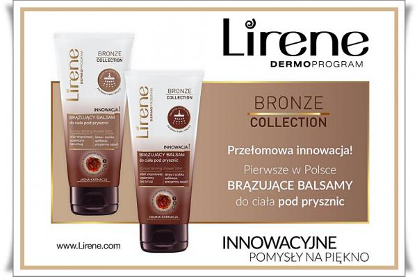 Pierwsze w Polsce - Brązujące balsamy pod prysznic od LIRENE