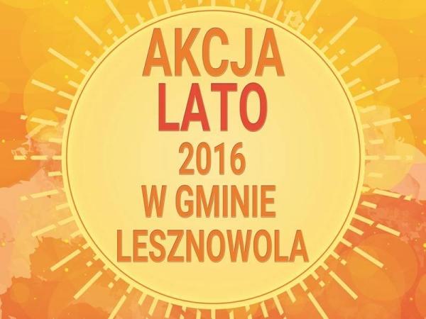 Akcja Lato 2016 w Gminie Lesznowola
