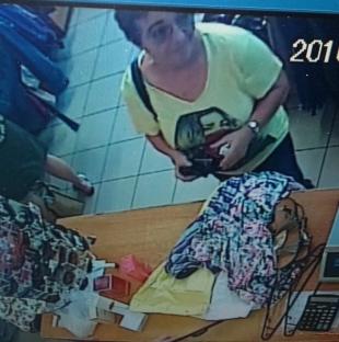 Wizerunek kobiety mogącej mieć związek z kradzieżą