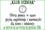Klub uczniak - Bezpłatna pomoc w nauce dla dzieci i młodzieży
