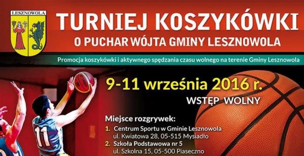Koszykarski weekend w gminie Lesznowola