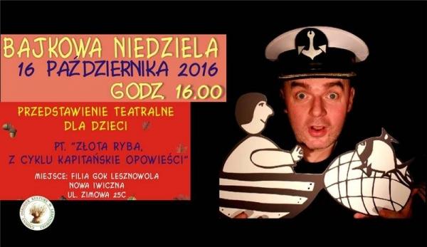 Bajkowa Niedziela w GOK Nowa Iwiczna - Złota ryba