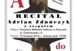 Koncert Adriana Zduńczyka w Piasecznie