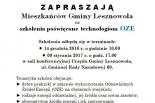 Bezpłatne szkolenia w gminie Lesznowola