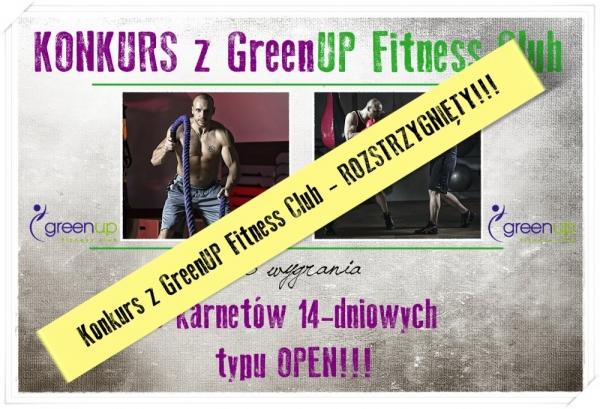 Konkurs z GreenUP Fitness Club rozstrzygnięty