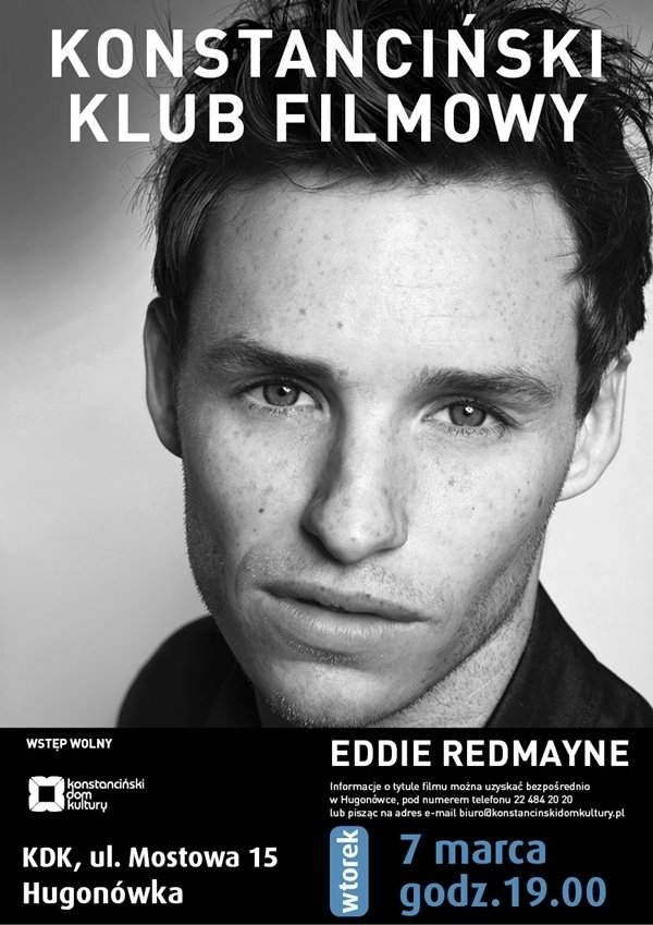 Konstanciński Klub Filmowy - Eddie Redmayne