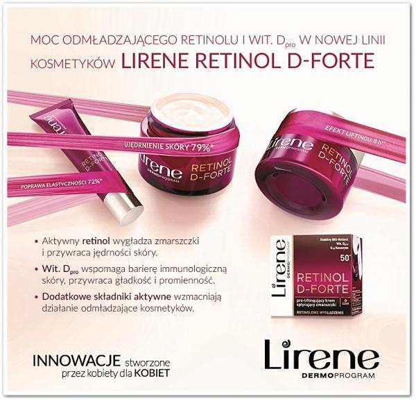 SPEKTAKULARNY EFEKT ODMŁODZENIA SKÓRY - Lirene Retinol D-Forte