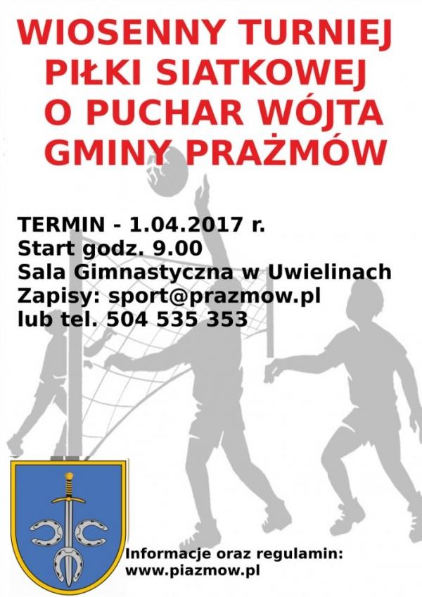 Wiosenny Turniej Piłki Siatkowej o Puchar Wójta Gminy Prażmów w Uwielinach