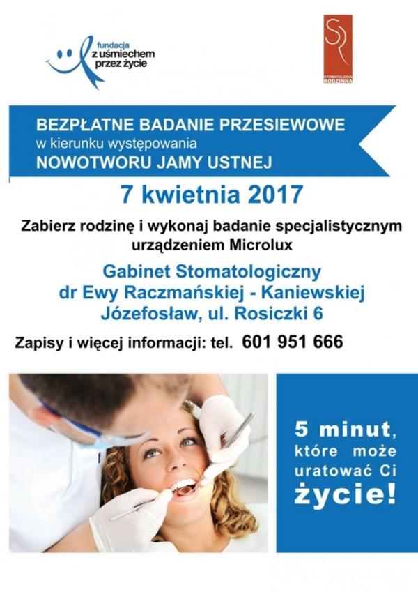 Profilaktyka stomatologiczna, profilaktyka przeciwnowotworowa