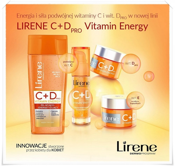 Energia i siła podwójnej witamin C i wit. D PRO w nowej linii Lirene C+DPRO Vitamin Energy