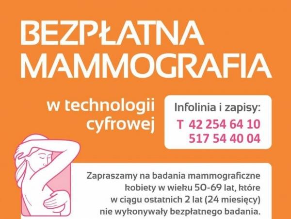 Bezpłatne badania mammograficzne dla mieszkanek Uwielin