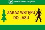 Zakaz wstępu do lasu na terenie leśnictwa Młochów