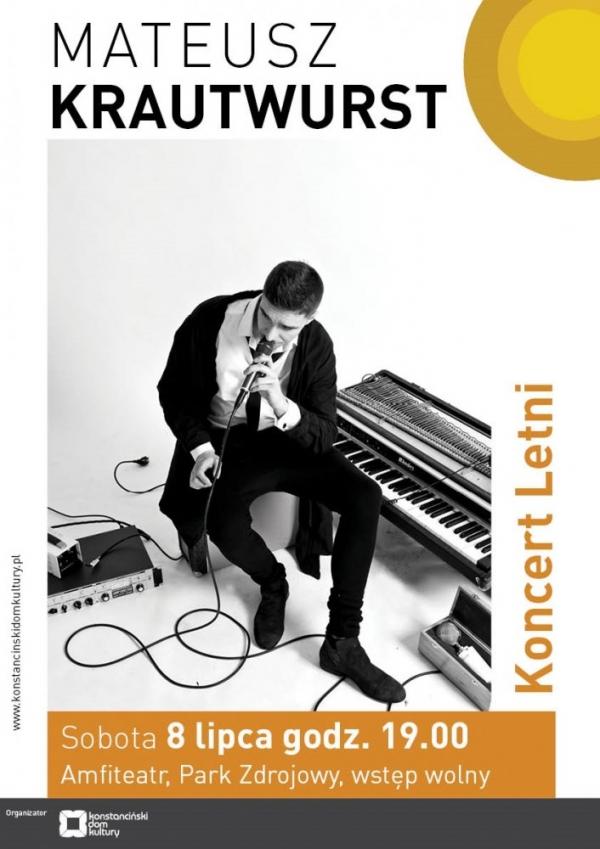 Koncert letni w Parku Zdrojowym – Mateusz Krautwurst