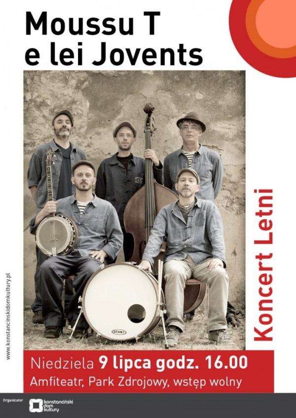 Koncert letni w Parku zdrojowym - Moussu T e lei Jovents