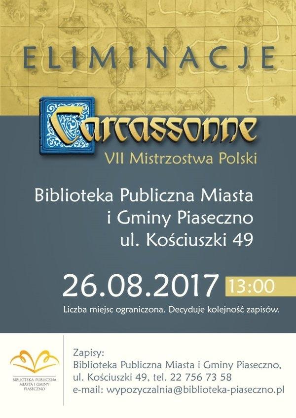 Piaseczyńskie eliminacje do VII Mistrzostw Polski Carcassonne