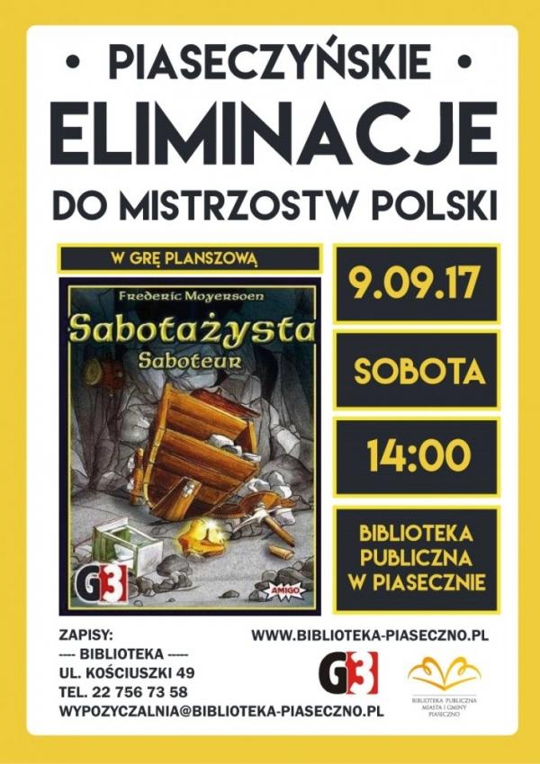 Eliminacje do Mistrzostw Polski w Sabotażystę