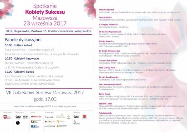 Gala Kobiet Sukcesu Mazowsza