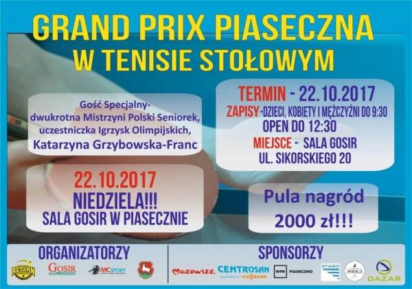 Grand Prix Piaseczna w tenisie stołowym