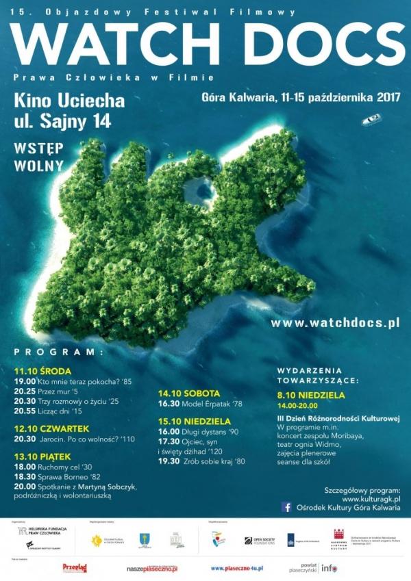 11-15.10 /15. Objazdowy Festiwal Filmowy WATCH DOCS w Górze Kalwarii