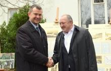 Prezydent Gruzji z wizytą w Zalesiu Dolnym