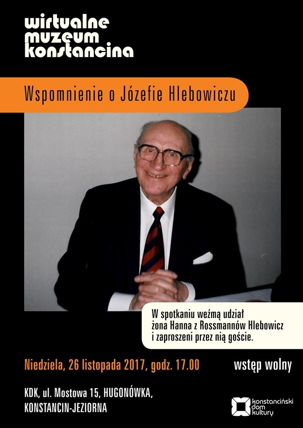 Wirtualne Muzeum Konstancina – Józef Hlebowicz