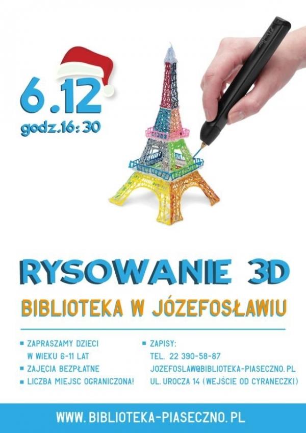 Rysunek 3D w bibliotece w Józefosławiu