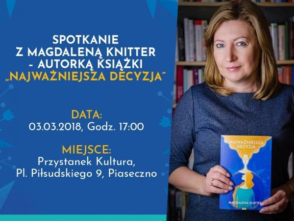 Spotkanie z Magdaleną Knitter w Piasecznie