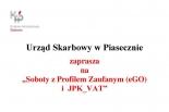 Soboty z Profilem Zaufanym (eGO) i JPK_VAT