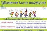 WIOSENNE KURSY MUZYCZNE czyli  zajęcia przygotowujące do podjęcia nauki w szkole muzycznej