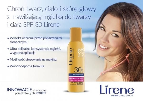 Chroń twarz, ciało i skórę głowy z Lirene SUN