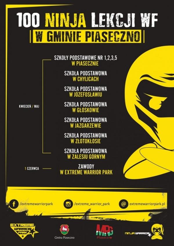 100 Ninja Lekcji Wf w Gminie Piaseczno