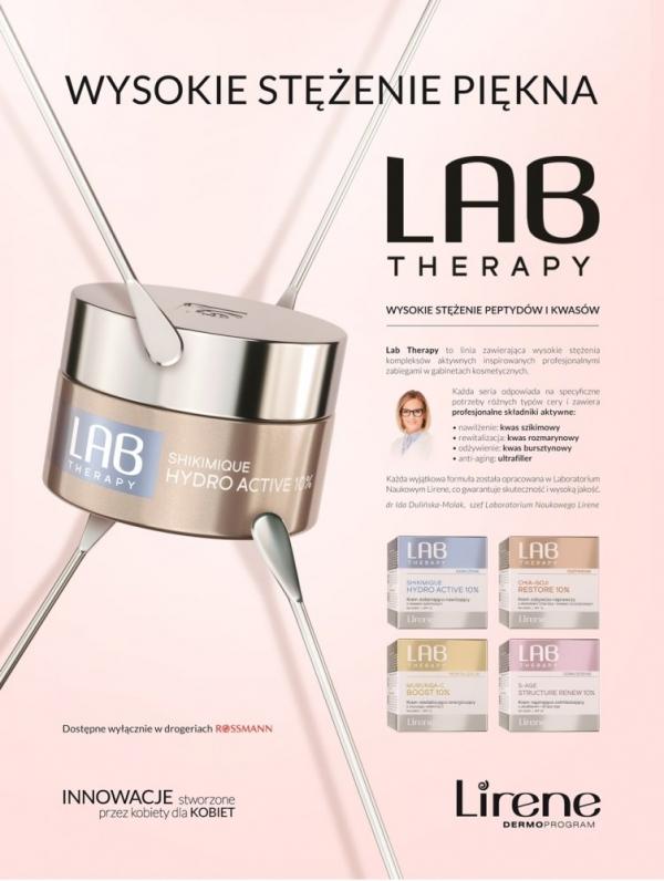 Wysokie stężenie składników aktywnych w nowej linii Lirene LAB Therapy