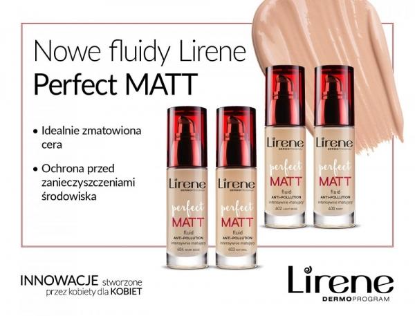 Nowa linia fluidów Lirene PERFECT MATT