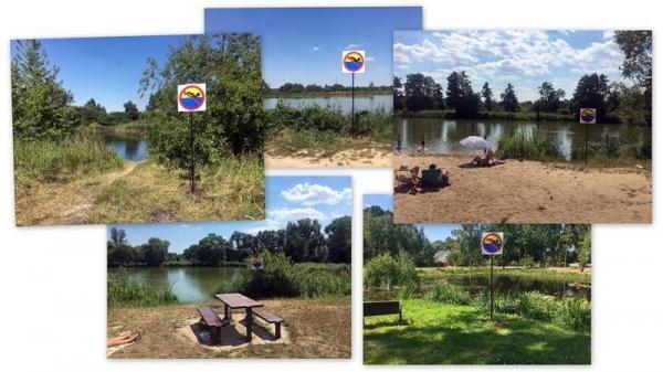 Zakaz kąpieli w zbiornikach wodnych na terenie gminy