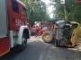 Poszukujemy świadków zderzenia koparki z hondą na drodze wojewódzkiej 722 w Bogatkach