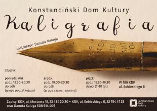 Kaligrafia w Konstancinie