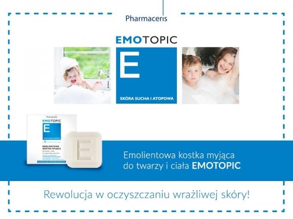 Emolientowa kostka myjąca do twarzy i ciała EMOTOPIC – rewolucja  w oczyszczaniu wrażliwej skóry!