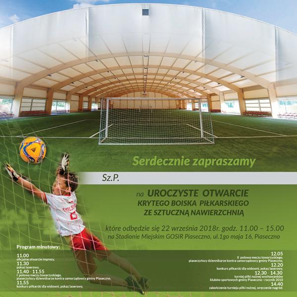 Otwarcie krytego boiska piłkarskiego ze sztuczną nawierzchnią